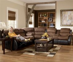 Reclining Sectional Transitional Style And Reclining Sofa