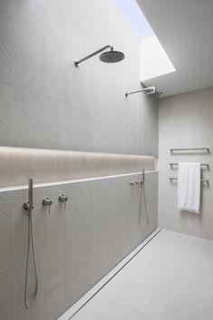 Stone Bathroom, Bathroom Renos, Bathroom Layout, Bathroom Interior Design, Modern Bathroom, Best Bathroom Lighting, Feature Tiles, Bathroom Feature Wall Tile, Coastal Bathrooms