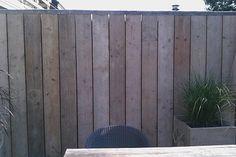 Mooie steiger houten schutting
