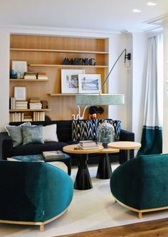 Casa Decor Madrid - Beautiful Living in Blue with great details designed by Marisa Gallo.