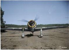 Finnish Air Force 'Fokker D.XXI' in Mikkeli, Finland 1941 (Colorized) [1489 x 1085]