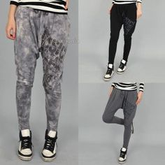 Womens Sweatpants Harem Baggy Sweat Pants Elastic Band Waist Trousers for Women