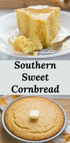 Homemade Southern Sweet Cornbread Homemade Southern Sweet Cornbread Southern Sweet Cornbread is served with just about everything in the deep south. Most Southerners prefer their cornbread, the same as their tea. Southern Cooking Recipes, Southern Desserts, Southern Dishes, Country Cooking, Southern Food, Southern Comfort, Southern Style, Southern Cornbread Recipe, Homemade Cornbread