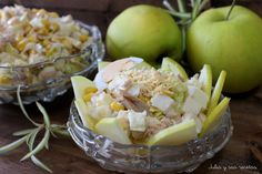 Ensaladilla de Manzana con Atún   Recetas Faciles Reunidas Potato Salad, Salads, Meals, Cooking, Ethnic Recipes, Food, Mango, Drink, Recipes With Vegetables