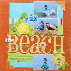 """Ideas for Scrapbookers: New """"Beach"""" Template!"""