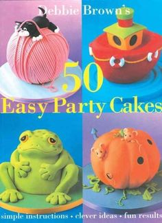 Crammed with ideas for creative cakes, 50 Easy Party Cakes features a stunning range of colorful designs from best selling cake-decorating author Debbie Brown. If you are planning a party, and are pus