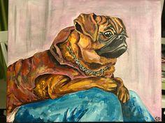 Petit brabancon. Griffon. Acrylic canvas.