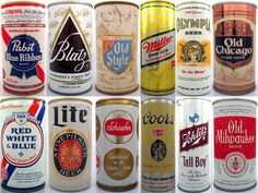 Beer Can Collection Photo Beer Brewing, Home Brewing, Beer Can Art, Make Beer At Home, Beer Can Collection, Beer Tasting Parties, Popular Beers, Tall Boys, Oldies But Goodies