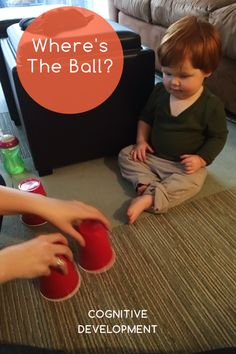 Infants and Toddlers: Cognitive Knoala Early Toddler Activity: 'Where's The Ball?' helps little ones develop Cognitive skills. *What an great collection of no-prep activities for kids! Toddler Play, Toddler Learning, Early Learning, Preschool Activities, Kids Learning, Toddler Games, Cognitive Development Activities, Child Development, Activities For 2 Year Olds