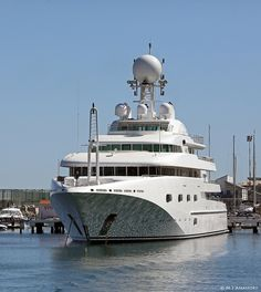 Superyacht M/Y Pegasus VIII at Marina Bay, Gibraltar