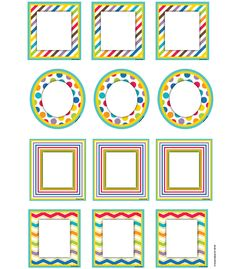 """These assorted cut out shapes are fun additions to any classroom setting and can be used for more than just decoration. Great for sorting activities, calendar activities, game pieces, name tags, reward cards, and much more. Perfect to brighten up cubbies, walls and bulletin boards too. This 36 piece pack includes an assortment of bold colors and designs measuring 6"""" x 6½ printed on card stock."""