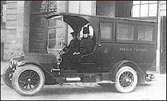 Paddy Wagon came from Patrick, and the reference to Irish cops     Irish proper name Patrick (Ir. Padraig).Paddy wagon is 1930, perhaps so called because many police officers were Irish.