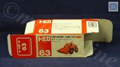 TOMICA 063A FURUKAWA WHEEL LOADER   1/79   ORIGINAL BOX ONLY   1988-1993 JAPAN Diecast, Auction, Japan, The Originals, Box, Snare Drum, Japanese