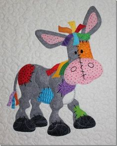 Raggedy Farmyard Quilt Here is a collection of every ones work and Patterns for … – Nutztiere Quilt Baby, Baby Patchwork Quilt, Patchwork Quilt Patterns, Applique Quilts, Hexagon Quilt, Embroidery Patches, Hand Embroidery Patterns, Applique Patterns, Embroidery Applique