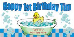 Rubber Duckie Birthday Banner