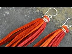 Learn How-to make leather jewelry. These tassel earrings are fun & easy to make. Visit ... for more jewelry projects & supplies!. How, Make, Earrings, Jewelry, Ring,