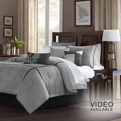 Madison Park gray  Comforter set