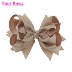>> Click to Buy << Your Bows 1PC 5 inches Kids Hair Bows 3 Layers Solid Vanilla Bows Hair Clips Boutique Ribbon Bows For Girls Hair Accessories #Affiliate
