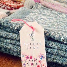 Kutova KiKa lovely knitted scarf in minty green in 100 % alpaca / www.kutovakika.com