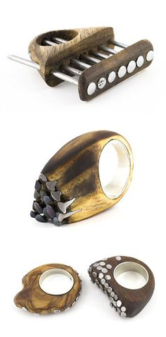 nailed rings by Liron Loval http://www.lironloval.com/