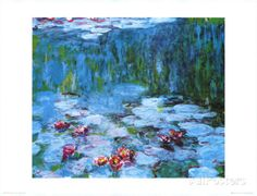 Water Lilies Prints by Claude Monet at AllPosters.com