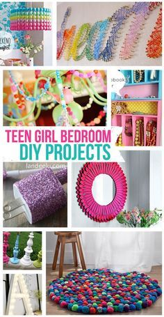 Many of these great ideas would work for any age! Teen Girl Bedroom DIY Projects | landeelu.com                                                                                                                                                      More