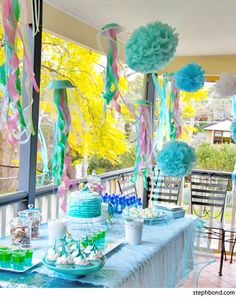 Your kids will have just as much fun making these DIY mermaid party decorations as they will at the party!