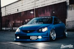 Slammed Acura RSX on Rotiform Wheels-32