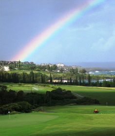 Maui, Hawaii.  Golf at Kapalua, Hawaii style.  Have played golf here many times and I'm always in awe of the views.