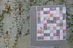 """From """"Film in the Fridge:"""" Classic Liberty prints + Modern patchwork = amazing baby quilt!"""