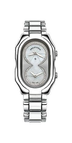 Philip Stein Prestige Watch 11-IPTW-SS  in a Red Pashmina Pearl 8DD bracelet