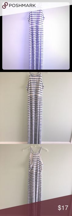 Maxi dress This is a blue and white cotton maxi dress. Very comfortable and only worn once. Size S Old Navy Dresses Maxi