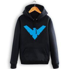 Batman Dark Knight Robin Nightwing Nightwing hoodies fashion autumn and winter hedge loose cotton hood sweatshirt men
