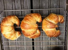 Homemade croissants: buttery, flaky breakfast pastry. Perfect for a shower; make mini croissants & serve w chicken salad