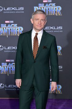 "blackstarjp: ""Actor Martin Freeman attends the premiere of Disney and Marvel's 'Black Panther' at Dolby Theatre on January 29, 2018(x) """