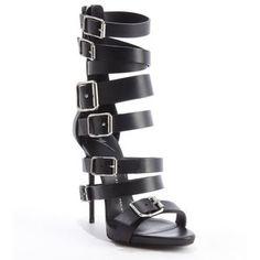 Giuseppe Zanotti Black leather multi-buckle 'Coline' platform sandals