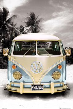 "ARC32514 - California Camper VW Bus (24"" x 36"")"