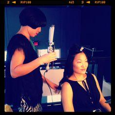 Katy creating the first curls of the season on @janisshen   #tresemme #hair @Mercedes-Benz Fashion Week #FashionWeek #NewYork #NYC