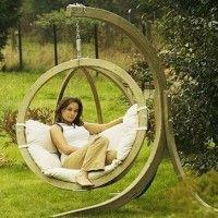 muebles de exterior: hamacas en verano