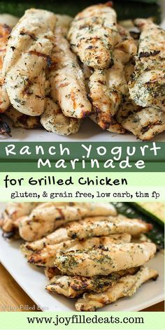 EASY Ranch Yogurt Marinade for Grilled Chicken - Gluten-Free, Grain-Free, Low Carb, Keto, THM FP - This is one of our favorite marinades for grilled chicken. My Ranch Yogurt Marinade has only 5 ingredients and gives the chicken a ton of flavor. Chicken Marinade Recipes, Grilling Recipes, Marinade For Chicken Easy, Healthy Chicken Marinades, Homemade Marinades For Chicken, Yogurt Marinade Recipe, Healthy Grilled Chicken Recipes, Meat Marinade, Low Carb Recipes