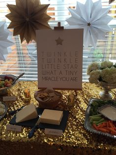 Twinkle Twinkle Little Star . Baby Shower . Star Decor . Paper Stars . Food Display . Nashville . Finnie Nash
