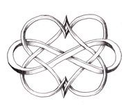infinite love tattoo - Mine will have a similar pattern with three awareness ribbons attached- lymphoma, lung cancer, and Asperger's Syndrome