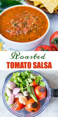 Fresh tomato salsa which has a depth of flavour from roasted tomatoes, jalapeno, fresh cilantro. It is spicy, tangy and perfect to dip your favourite tortilla chips into it. Roasted Salsa Recipe, Fresh Salsa Recipe, Tomato Salsa Recipe, Roasted Tomato Salsa, Fresh Tomato Recipes, Spicy Salsa, Roasted Tomatoes, Fresh Jalapeno Recipes, Mango Salsa