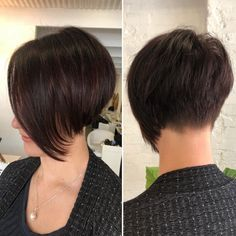Short Layered Haircuts Thick Hair It's high time to look gorgeous and try a fresh new hairstyle. Here is a list of fabulous New Short Layered Hairstyles that will upgrade your look perfectly. Angled Bob Hairstyles, Short Layered Haircuts, Short Hairstyles For Thick Hair, Short Brown Hair, Haircut For Thick Hair, Very Short Hair, Short Hair With Layers, Hairstyles Haircuts, Short Hair Cuts