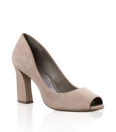 Suede Georgiana Peep Toe | Womens Heels | ToryBurch.com