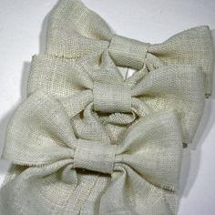 Set of 6 Burlap Bows  Wreath Bows Burlap by Cottonridgevintage, $45.00