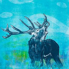 Louise Worthy 'Echoes in the Glen' Ink Monotype