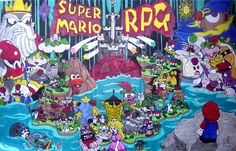Super Mario RPG Tribute by VitoGraffito on DeviantArt Geno Super Mario Rpg, Super Mario Bros, King Koopa, Paper Mario, Video Game Art, Bowser, Poster Prints, Geek Stuff, Fan Art