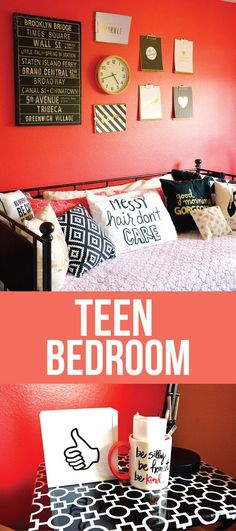 Teen Girl's Bedroom: A simple update to a girls bedroom to make it all hers!