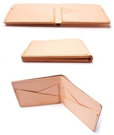CROSS POCKET WALLET (NATURAL LEATHER) | Ugmonk